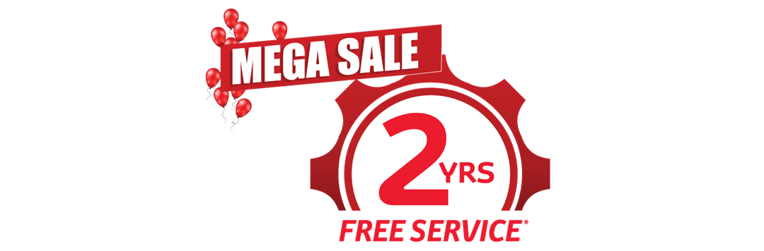 #3: 2 Years FREE Servicing*